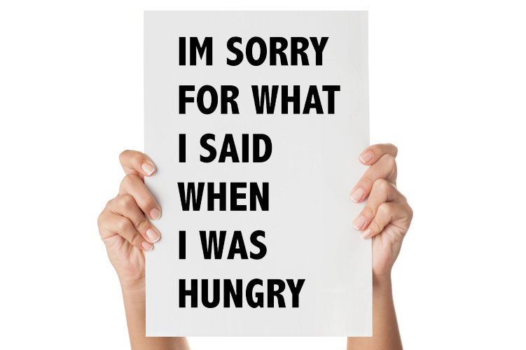 Muursticker I'm sorry for what I said when I was hungry