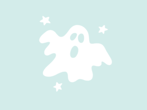 Muursticker spookje Boo glow-in-the-dark
