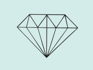 Muursticker illustratie diamant