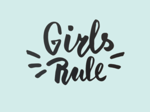 Muursticker tekst Girls rule