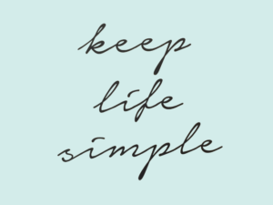 Muursticker tekst keep life simple