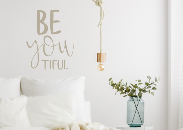 Muursticker tekst beyoutiful