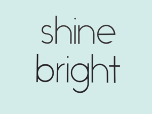 Muursticker tekst Shine Bright