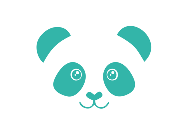 muursticker panda mint