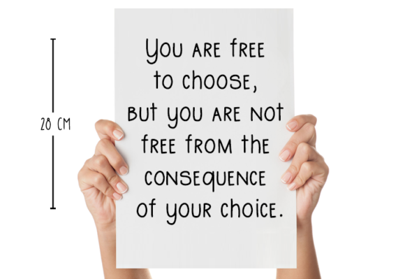 muursticker you are free to choose met afmeting