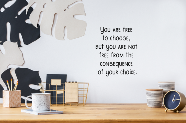 muursticker you are free to choose op de muur